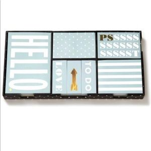 Kate spade sticky note set, new in box, mint green